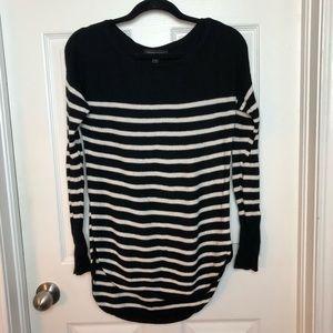 Black and white striped Banana Republic sweater